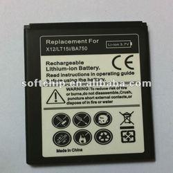 mobile phone battery pack for BA750/LT15I/X12/LT18I