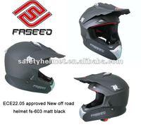 2012 new model ECE approved motorcycle cross helmet fs-603 Matt black