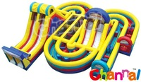 Outdoor Activity Inflatable Extreme Obstacle Maze Course