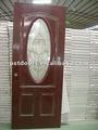 Acciaio porte in vetro pvc, acciaio porta di sicurezza con vetro inserito