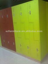 6 door Z shape door metal locker for changing room,full welding assembled locker