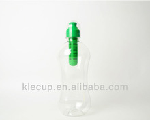 Clear plastic water bottles with activated carbon lid