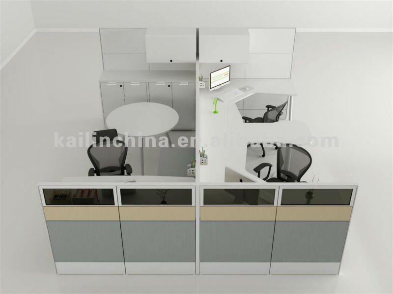 modulares de nuevo diseño de muebles de oficina de color blanco