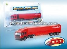 popular slide die cast door opening container car,metal model container