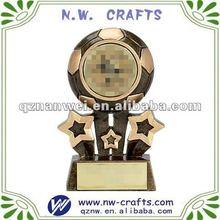 Mini star soccer resin trophy