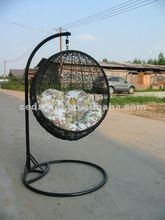 2014 PE garden rattan swing hanging chair