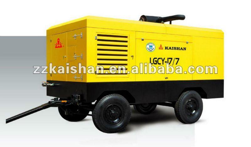 Venda quente! Portátil diesel 250 parafuso compressor de ar psi