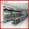 moderno europeo de acero inoxidable de la cocina del gabinete