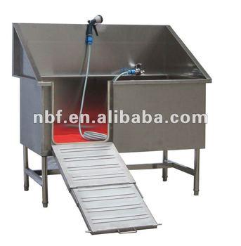 deep stainless steel pet bathtube