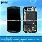 Touch Screen Digitizer LCD Full Assembly Frame For Samsung Galaxy S3 i9300 Blue