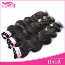 AAA GRADE 100% indian remy/virgin human Hair machine tied weft/weaving