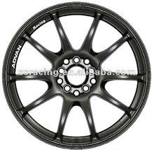 Advan racing custom styling aluminum alloy wheel rim 15, 16, 17 and 18 inch gloss black