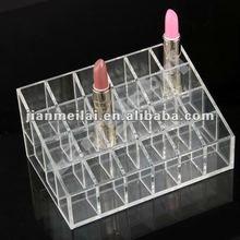 4 Tiers clear acrylic lipstick organizer,holds 24 lipstick