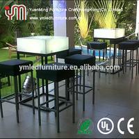 Led Used Nightclub Pub Furniture/Led Light Up Sofa Set
