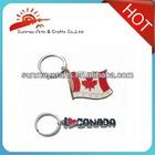 Canada souvenir custom metal keychains