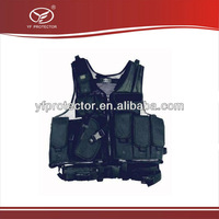Deluxe Multifunctional Tactical Vest Swat Paintball Airsoft Police Black Left Handed Holster