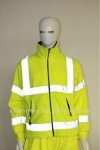 Hi Vis Reflective Safety Yellow fleece jacket European style