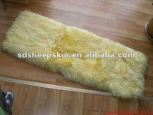 Alibaba Natural Long Hair Patch Work Sheepskin Cushions 130X40cm