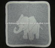 Baby Intarsia Cashmere Blanket