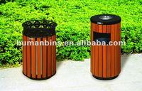 plastic wood outdoor bin /ouside bin/ashtray stand