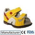 conforto couro médicos ortopédicos crianças sandália