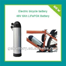 Electric bike battery 48V6Ah with bottle/dolphin case