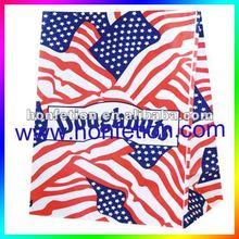 USA flag design shopping paper bag