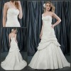EB-021 Sexy One Shoulder Two Layer Wedding Dress 2012 With Chapel Train