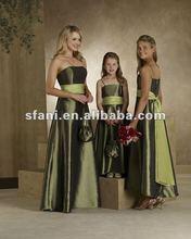 BD-007 Simple Cheap Traditional Taffeta Bridesmaid Dress 2012