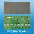 Led dot matrix módulo, interior led placa da unidade