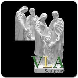 White Marble Religious Statue Family Carving VRS-079K