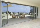 large aluminum and glass folding sliding door