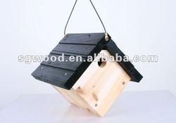 Eco-friendly FSC Hanging Wooden Bird Cage, Wooden Bird House