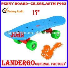 CE Approved Penny Board Blue Deck Green Wheel
