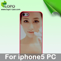Sublimation PC Cover Case For iphone 5
