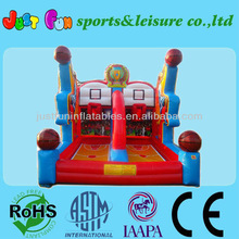 2014 attractive inflatabe shooting basketball games