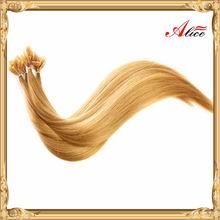 Fashion nail tip hair extension indian hair