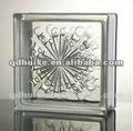Clear/tijolos de vidro colorido/decorativa vidro blocos/seawave