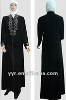 New Arrival Manufacturer Wholesale Embroidered Abaya with Stones