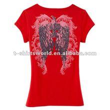 2014 fashion custom slim fit women's tshirt advertising