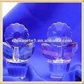 claro vaso de cristal de girassol para lembrança de casamento