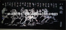 Cross stitch with eight horse 1100x500mm