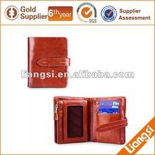 New design elegant genuine leather clutch purse for lady