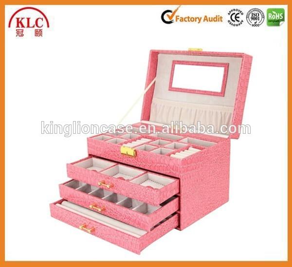 2015 new design cute pink jewelry case KL-M102
