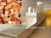 Fish slices drying/sterilizing macinery---microwave dryer/sterilizer