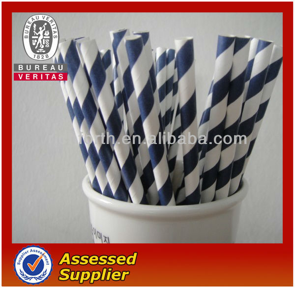 Navy Blue Striped Drinking Straws Navy Blue Striped Paper
