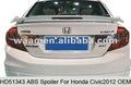 Hd51343-frp arrière aileron arrière wing pour Honda Civic 2012