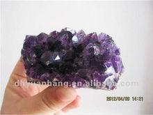 Venda quente bonito pequenas cluster ametista natural, natural de cluster de cristal por atacado, brasileiro semi- preciosas pedra de uva cluster