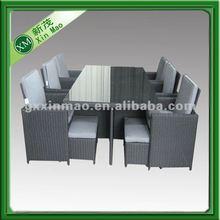cheap modern pe rattan dining room set 2012