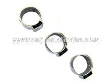 polishing single ear stepless hose clamp